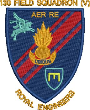 130 Fd Sqn (V) Embroidered Badge